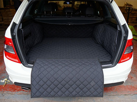 Quilted Pet Dog Boot Liner Protector For Mercedes Benz C Class Estate 08-14
