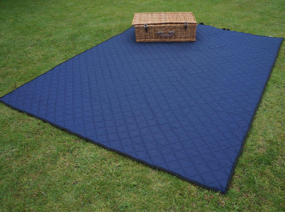 Navy Quilted Picnic Blanket