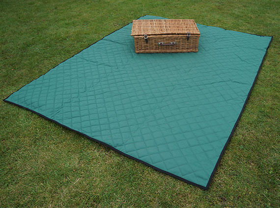 Green Quilted Picnic Blanket