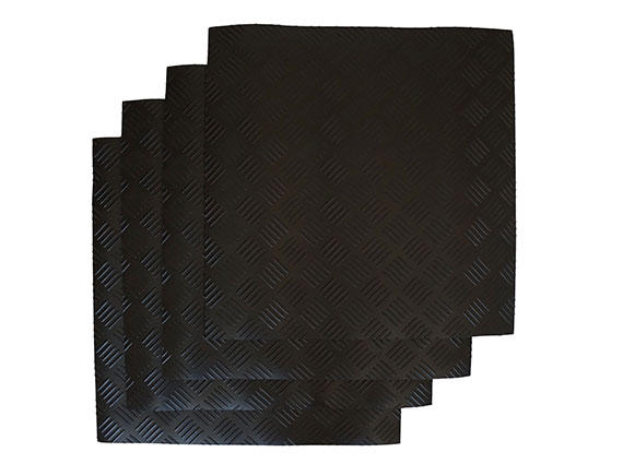 3mm Rubber Matting - Checkered Design Example