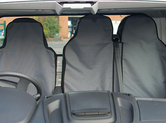 02-05 FRONT GREY HEAVY DUTY PAIR CAR SEAT COVER SET SEAT LEON