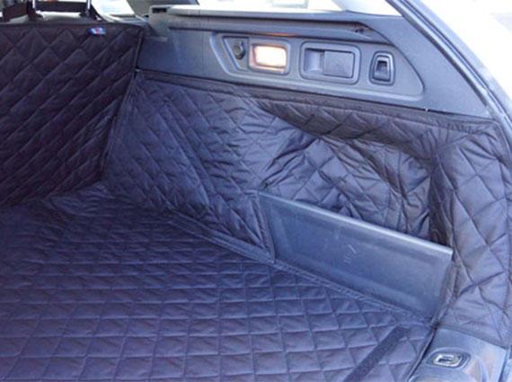 Black Rear Seat Cover Dog Pet Boot Hammock For Peugeot 508 RXH Estate 2011 On